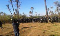 """بالصور.. قوات الأمن تمنع """"10 آلاف إطار تربوي"""" من إكمال مسيرتهم نحو الدار البيضاء"""