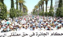 آلاف المغاربة يطالبون باطلاق سراح معتقلي الريف في مسيرة الرباط (صور)