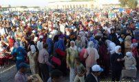 أضخم تجمع خطابي على صعيد إقليم الناظور للمنصوري بمدخل مدينة العروي
