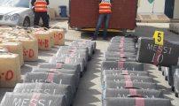 فيديو وألبوم من الصور لعرض محجوزات الأجهزة الأمنية من المخدرات التي كانت محملة على شاحنة والمقدرة بـ 13 طنا