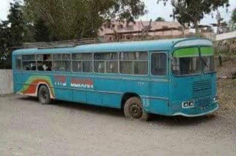 صورة للحافلة التي كانت تربط مدن — وكسان – أزغنغان – الناظور – بني انصار