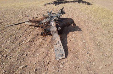 بالصور.. سقوط طائرة عسكرية تركية داخل الأراضي السورية