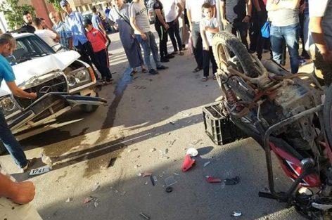 بودينار إقليم الدريوش ــ حادثة سير خطيرة تخلف إصابة شخص بجروح متفاوتة الخطورة